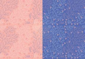 Vecteur boho branch floral patterns