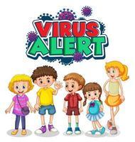 signe d'alerte de virus