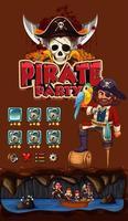 modèle de jeu avec thème pirate vecteur