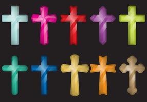 Croix colorées vecteur