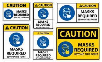 masques de prudence requis au-delà de cet ensemble de panneaux de points