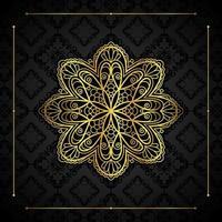 bordure en or et mandala