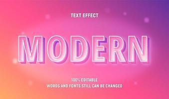 texte de contour blanc glitter rose modifiable vecteur