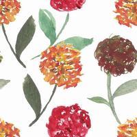 modèle sans couture floral aquarelle jaune, rouge pissenlit