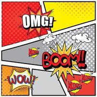 conception de mots d'expression pour les bandes dessinées vecteur