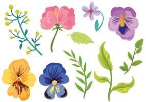 Vecteurs floraux gratuits vecteur