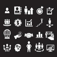 icônes d'affaires, de gestion et de ressources humaines