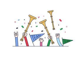 Vuvuzela Vector gratuit