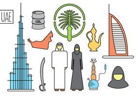 Emirats Arabes Unis vecteurs libres vecteur