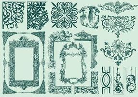 Cadres et diviseurs décoratifs vecteur