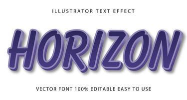 effet de texte horizon bleu vecteur