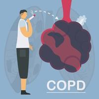 le tabagisme est la cause d'une maladie pulmonaire obstructive chronique