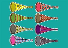 Icônes Vuvuzela vecteur