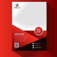 couverture de flyer dégradé rouge vecteur