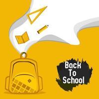 modèle de carte de voeux de retour à l'école