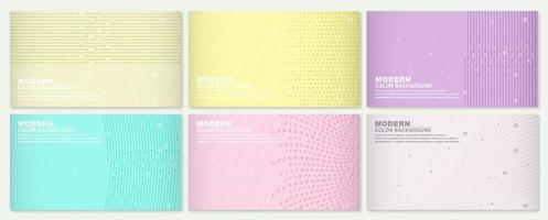 motif de lignes abstraites couvertures pastel géométriques vecteur
