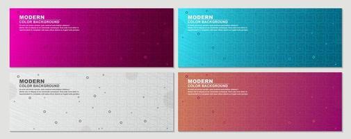 ensemble de bannières de motif géométrique dégradé coloré
