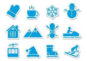 Vecteur libre d'icônes d'hiver