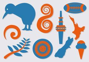 Vecteur libre des icones de la Nouvelle-Zélande