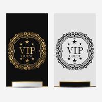 cartes de luxe premium ornementales vip noir et blanc