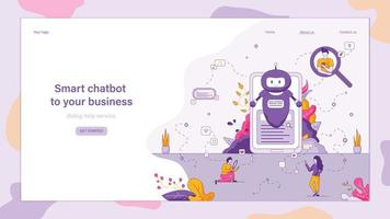 chatbot intelligent pour votre entreprise vecteur