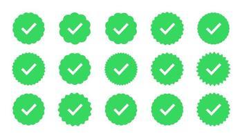 jeu de badges de garantie et de qualité vecteur