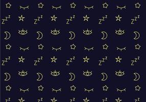 Vecteur de motif de sommeil gratuit