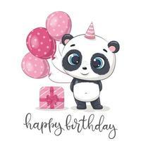 carte de voeux avec panda