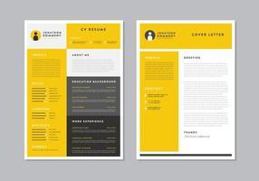 CV emploi jaune vecteur