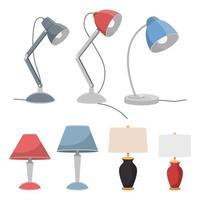lampes de table sur blanc