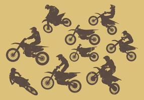 Silhouette de vélos