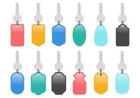 Vecteur de porte-clés coloré gratuit