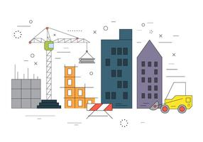 Construction de bâtiments vectoriels vecteur