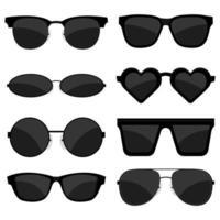 ensemble de lunettes de soleil vecteur