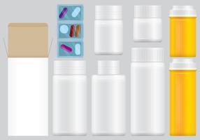 Packs de pilules de prescription vecteur