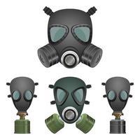 masque à gaz isolé sur fond blanc vecteur