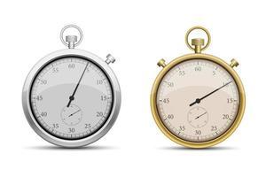 chronomètre rétro isolé sur fond blanc