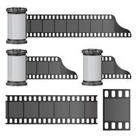 Rouleau de film de caméra fond isolé vecteur