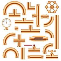 ensemble de raccords de tuyauterie en cuivre