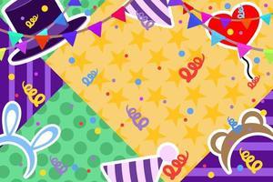 conception d'anniversaire colorée