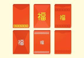Collection de vecteurs de paquets rouges