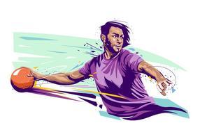 Illustration du joueur de dodgeball vecteur