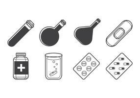 Vecteur gratuit d'icônes de médecine
