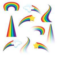 ensemble d'arcs-en-ciel colorés