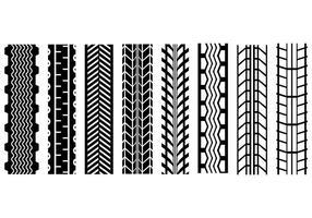 Vecteur de marques de pneu gratuit