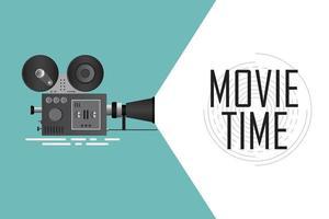 affiche de projecteur de cinéma rétro vecteur