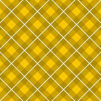 motif tartan jaune, blanc vecteur