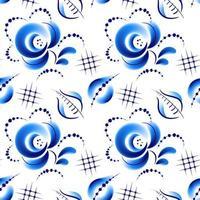 motif floral folk bleu
