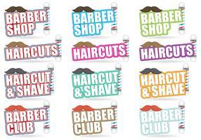 Titres de coiffeur vecteur