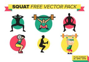 Pack de vecteur gratuit squat